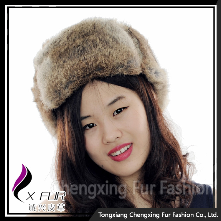 CX-C-26B Classic Real Rabbit Fur Russian Earflap Russian Style Winter Hats
