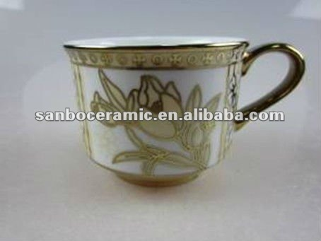 Stock mug with gold electroplated