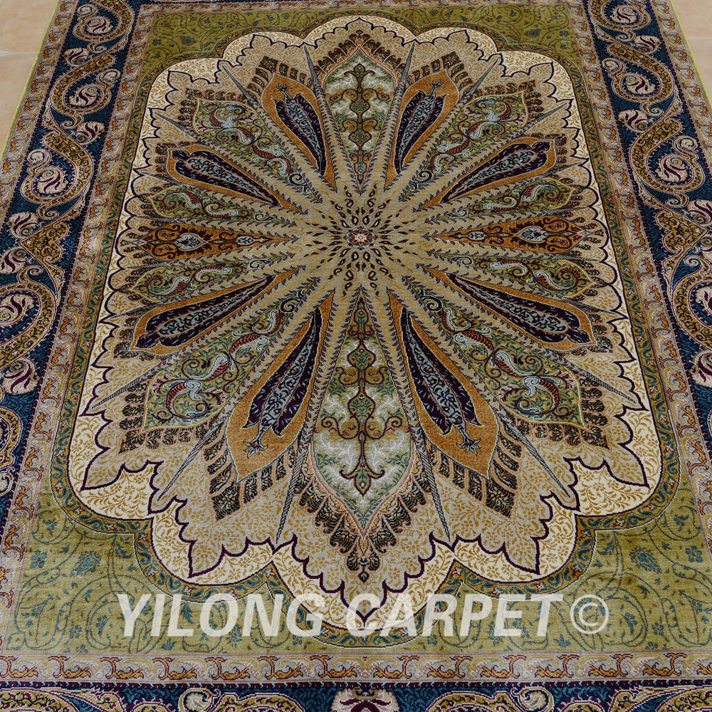 Yilong 4 39 x6 39 alfombra de seda persa alfombras hechas a for Alfombra persa seda