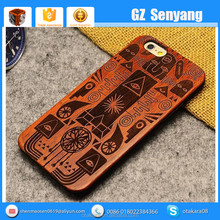 China Supplier Carved Wood Cover Case for iphone 6,for iphone 6 Plus Wooden Case