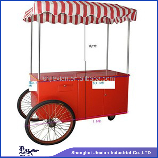2015 Shanghai JX-IC140 newly style mobile ice cream carts