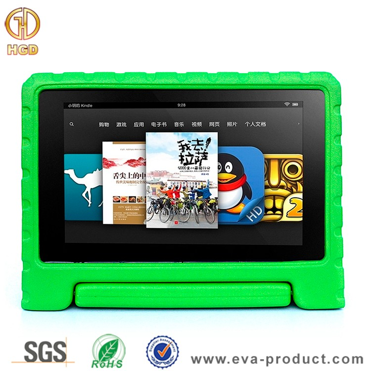 Kid Proof EVA Series Light Weight Handle Stand Case For Amazon Kindle Fire HD 10 2015