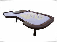 96' casino deluxe roulette poker table with with wood legs