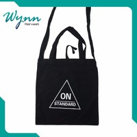Fine production promotional cotton carry bag with cord Large capacity