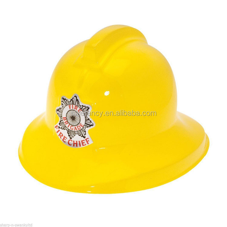 Top selling kids party plastic fire firefighter helmet hat QHAT-6046