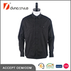 Custom Cotton Black Striped Double Box Pleated Pockets Tailored Fitness Shirt