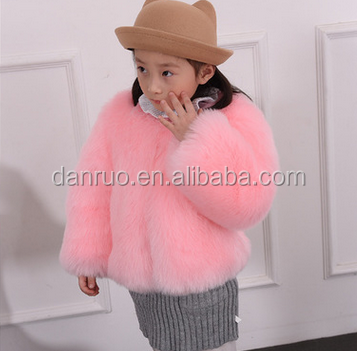 Children's wear imitation fox fur coat of new fund of 2016 autumn winters fur coat thickening of the girls