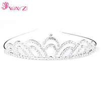 WAYZI brand custom silver india crowns wholesale tiaras and crowns wedding