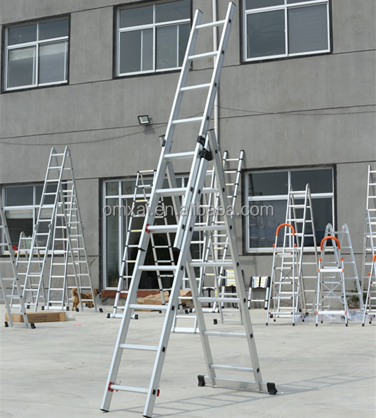 2017 hot sell three section extension/combination Ladder