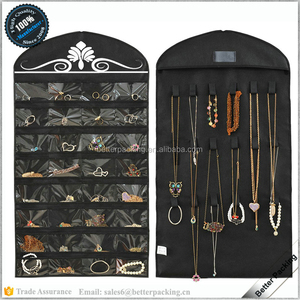 Hot Black Travel Hanging Non-Woven Organizer Holder Toiletry Jewelry Roll Bag