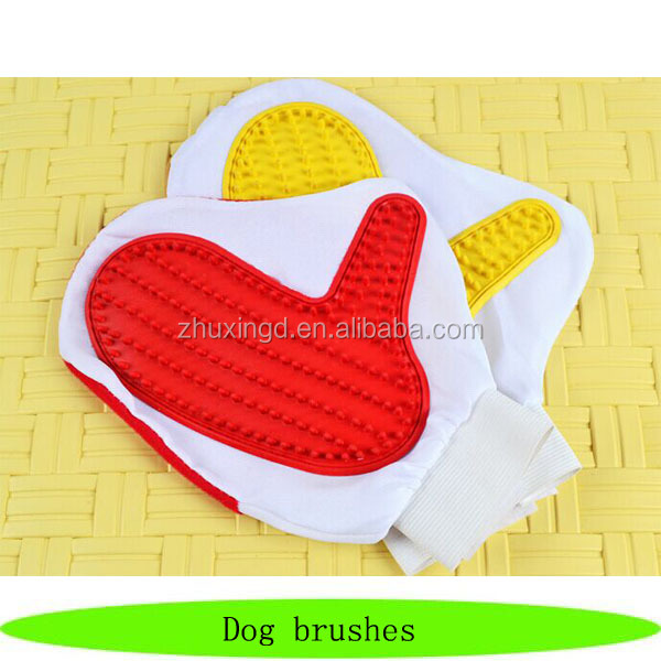 Wholesale pet plastic brush / cheap bath dog brushes / pet grooming glove