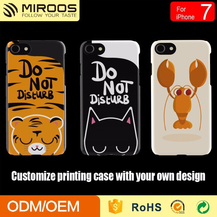 High quality Custom soft touch hard Plastic printing phone case for iphone 7 6s 6 5 mobile cover