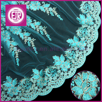 Unique gold Flower Design Textile french Lace Fabric /2015 Latest Cupion Lace Embroidery / Cord Lace Fabric For Nigerian Wedding