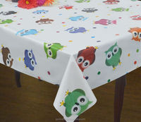 Kitchen Decoration Printed Plastic PVC Table Cover