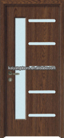 Romania inner PVC wooden design glass door