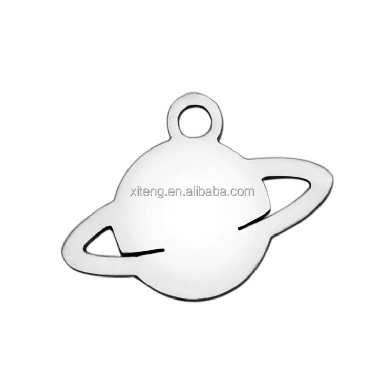 High Quality 10.4*14.3mm Stainless Steel Planet Charm Pendants, Earth Planet Charms