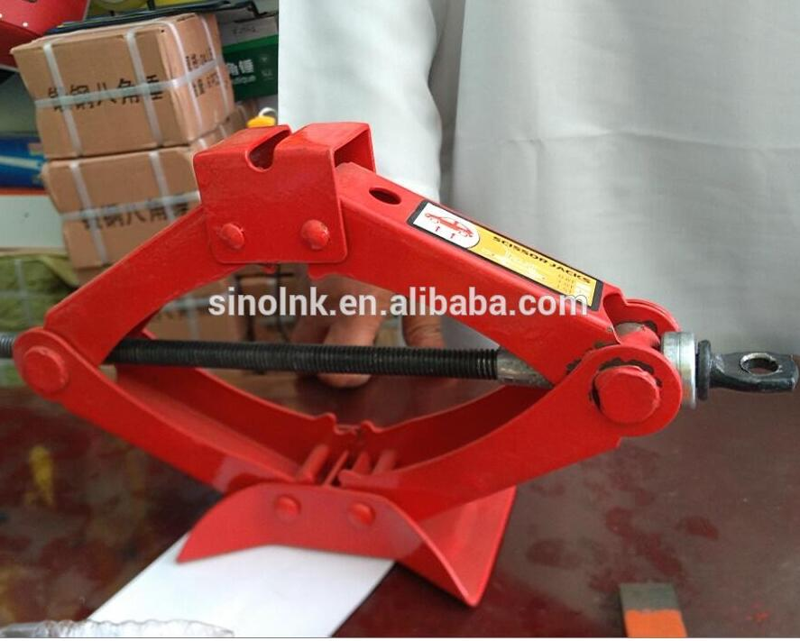 RED COLOR Car Scissor type hand-operated mechanical jack Lift Jack