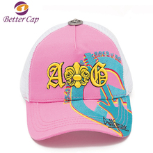 High quality fashion styles embroidery custom 5 panel gorras mesh trucker hats