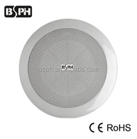 6W Spring Clip in wall Speaker with plastic dust cover 100 Voltage Line array metal grill surface