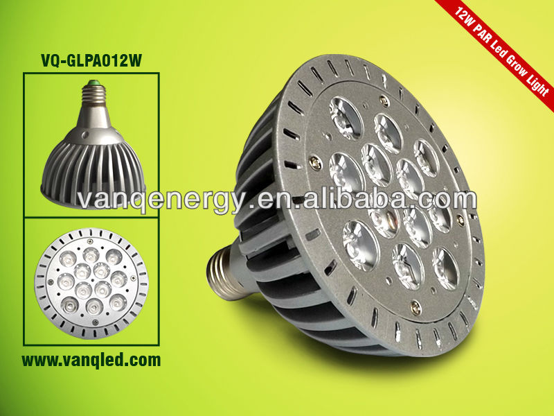 Wholesale 12W E27 led grow light bulb for hydroponic tray