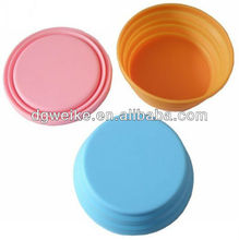 2012 FDA & LFGB standard pet products silicone folding dog bowl