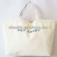 Decorative popular 100% recycled cotton tote bags