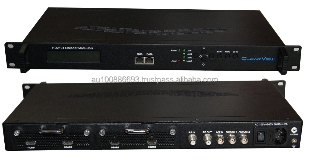 Wholesale ClearView HD2101 Dual HD Encoder Modulator Mpeg2/4 made in Hong Kong