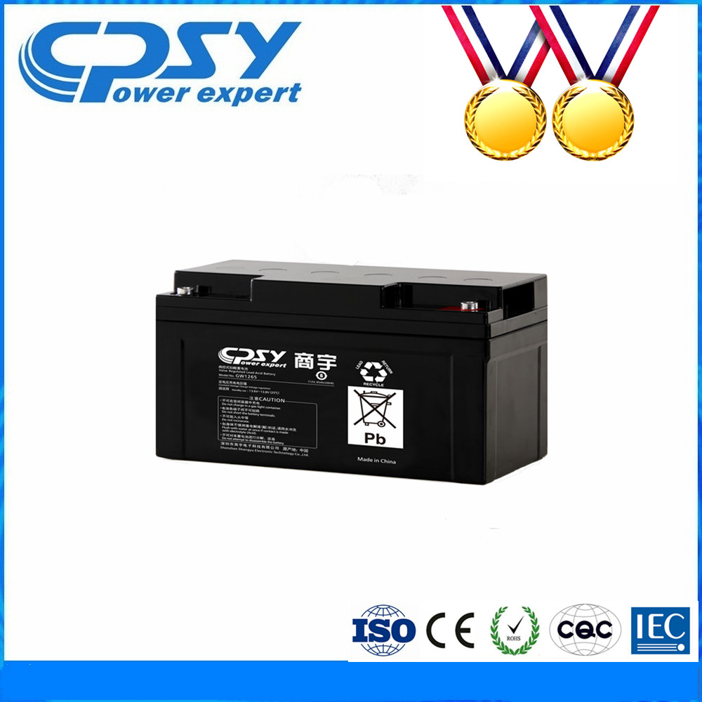 Long-life high-capacity deep cycle batteries 12v 65ah for ups external battery