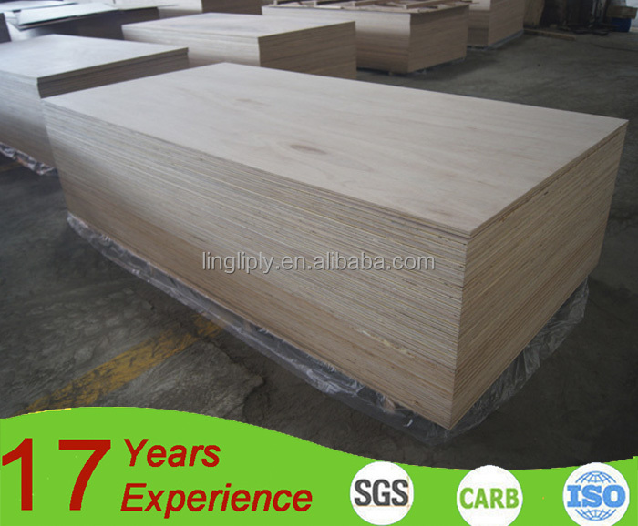 Home decoration E1 glue 18mm plain plywood/timber wood exported to England