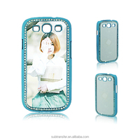 Best quality popular diamond sublimation led phone case for Samsung S3