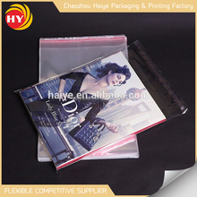 Good quality brands waterproof transparent BOPP recycled plastic bag
