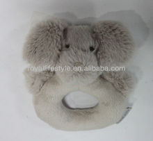 New custom Adorable Plush Dog baby Rattle toy