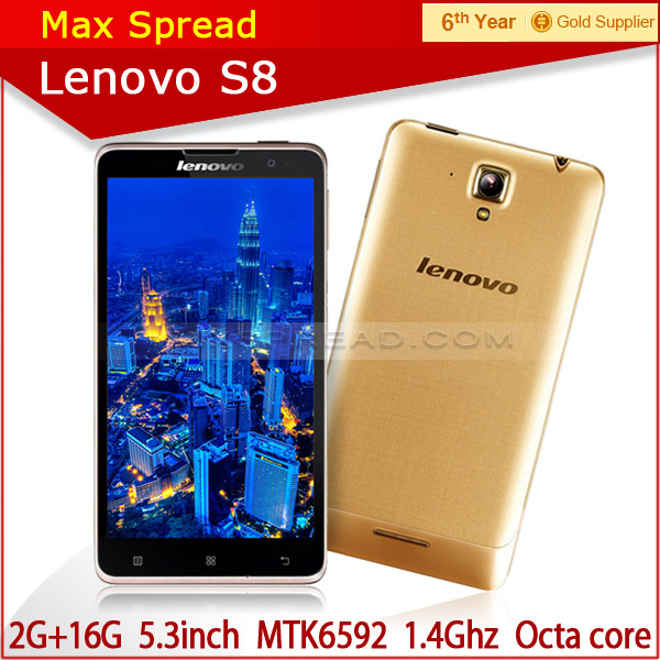 Original Lenovo S8 S898T+ Mobile Phone MTK6592 Octa Core Android 2014 newest cellphone