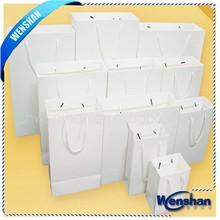 Luxury Shopping Bag White Kraft Paper Bag