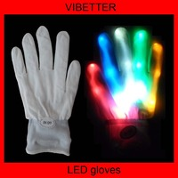 led gloves with popular design in Shenzhen , led in the nail part (factory) for Christmas Christmas gloves