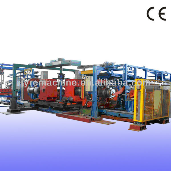 Single stage all steel radial truck tyre making machine (Three drums)