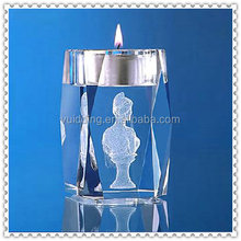 Fashionable Faceted 3D Laser Crystal Tea Light Candle Holder