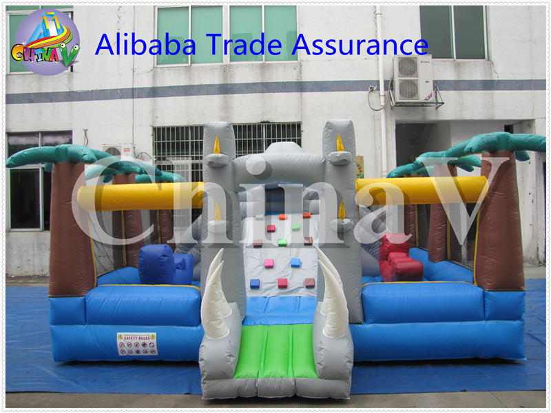 customized cartoon high quality inflatable children's playground
