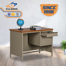 modern desk led desk lamp metal drawer and wooden desktop steel office desk