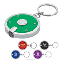 promotion plastic Round LED Key Chain