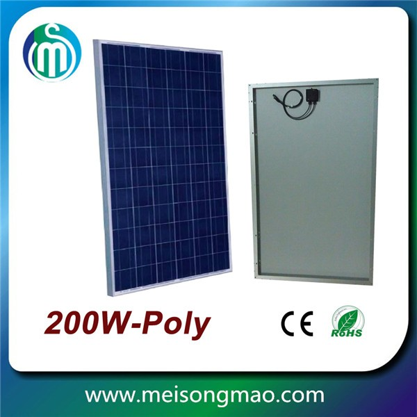 Top supplier poly module PV module poly solar panel 200W