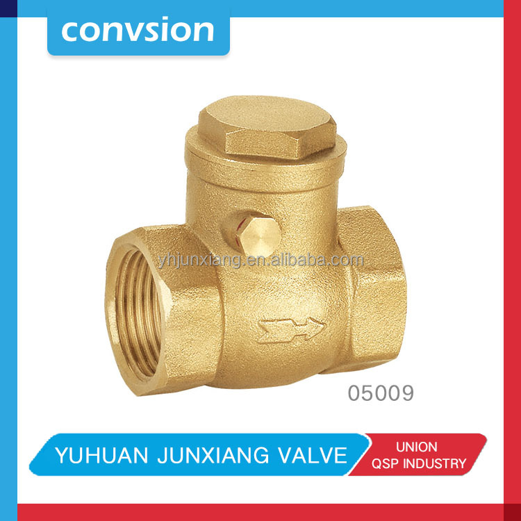 "Convsion 3/4"" Brass Check Valve, Inline Swing, Air Water or Oil BSP thread"