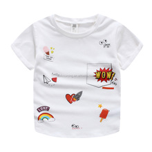 Wholesale custom printing short sleeve kids new model t shirts