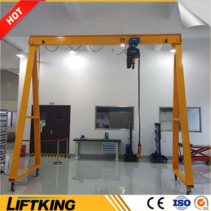 mobile gantry crane ,fixed small workshop crane