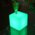 table mini seat lighting outdoor light chair 3d magic ice led cube