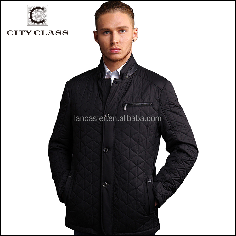 13022 New Model Fashion Men Business Slim Fit Jackets Hot Sale Casual Polyester Quilted Jacket For Men