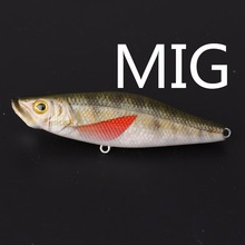 lifelike colour rattle baits fresh water perch lures luminous fishing tackle kawakawa 68mm popper top water surface lure