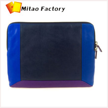 New 2015 New Style 3 Color Mixed Amzing Zip Top Leather Netbook Case For ipad 3 Sleev Travle Bag For Business Men Retail