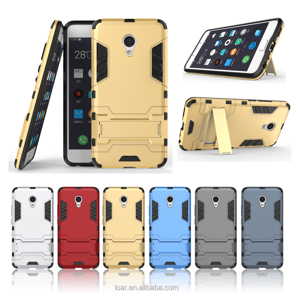 Anti shock with kickstand TPU+PC Armor case for Meizu MX5 MX6 PRO U10 U20 MEILAN E METAL meizu m3 note Back Cover Cases