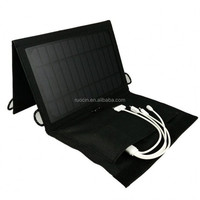 7w folding solar panel phone charger bag